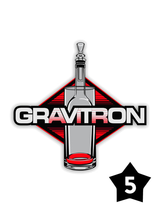 GRAV® Gravitron® Sticker - Pack of 5