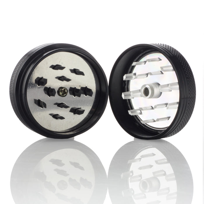 "Kraken Grinders - 1.5"" 2-Piece Grinder with Easy-Clear Push Button"
