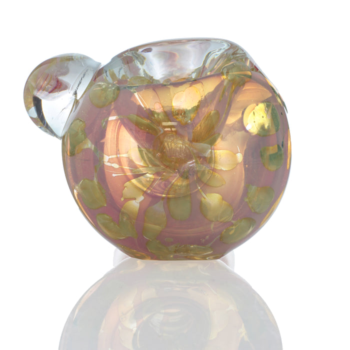 "4.5"" Assorted Heavy Gold Fumed Candy Cane Hand Pipe"