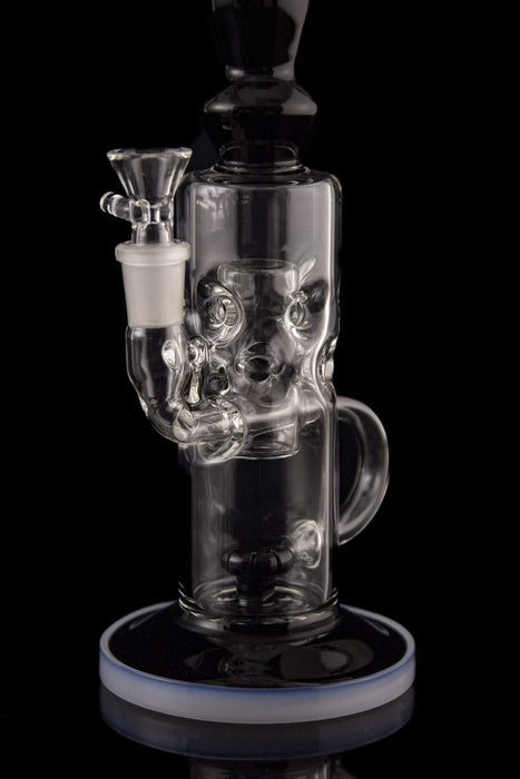 "The ""Swan Fountain"" Swiss Cylinder Elegant Water Pipe"