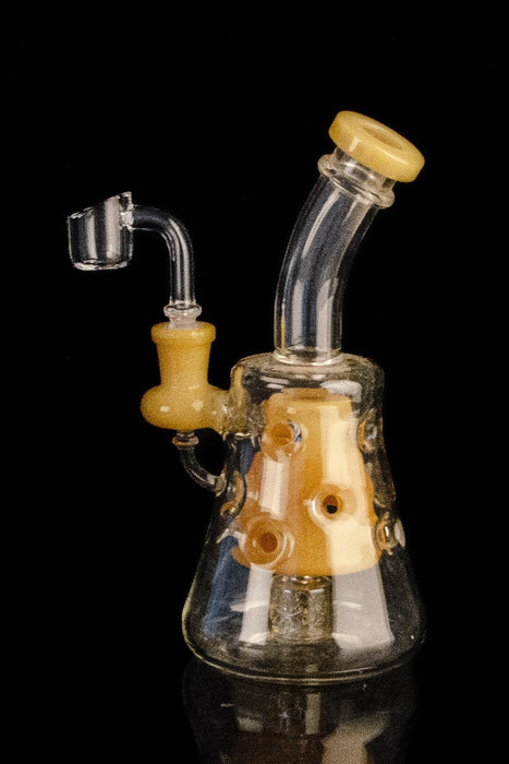 """The Cerebellum"" Showerhead to Swiss Body Bent Neck Concentrate Rig"