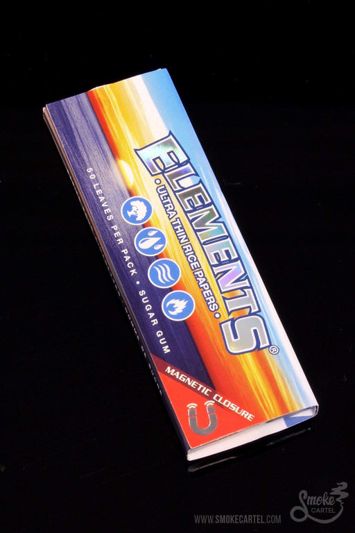 "1"" 1/4 Standard Size Papers - Elements 1 1/4 Ultra Rice Rolling Papers - Elements -"