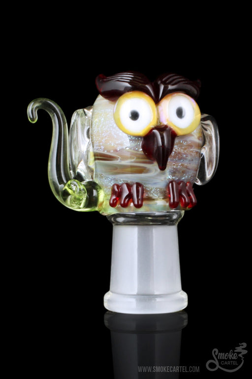 "14.5mm - Empire Glassworks ""Green Owl"" Concentrate Dome - Empire Glassworks -"