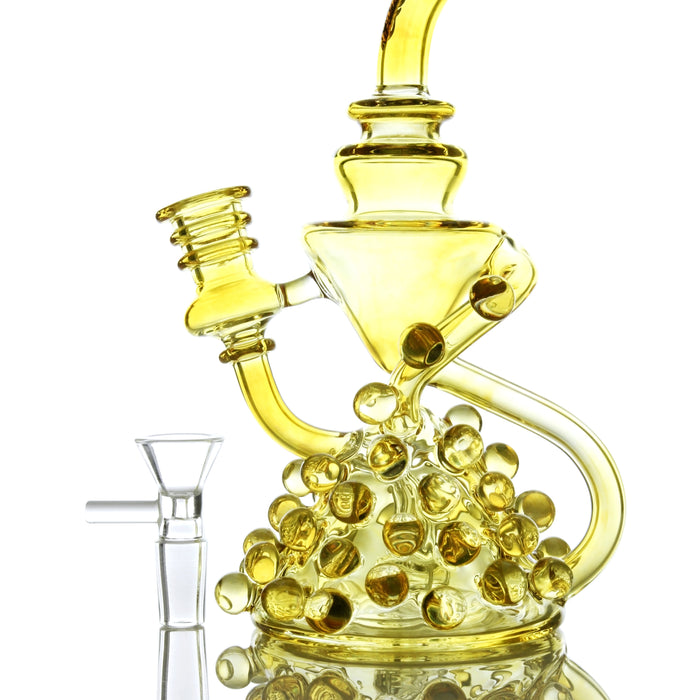 "Sesh Supply ""Apollo"" Fumed Marbled Recycler Dab Rig"