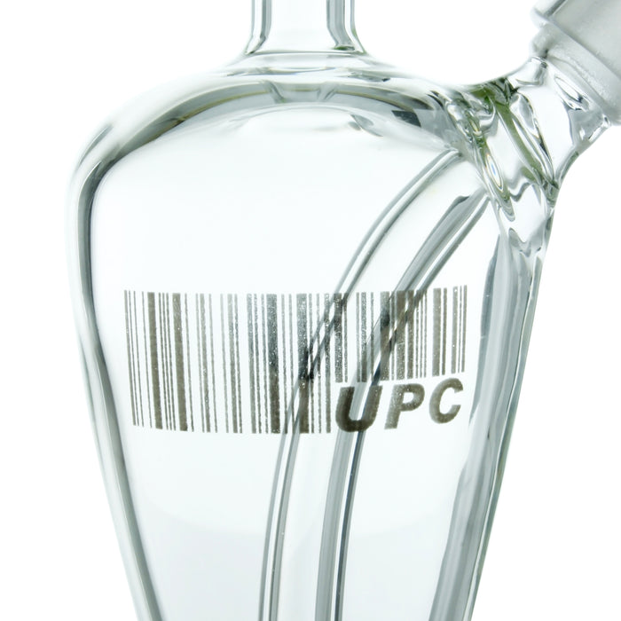Platinum UPC Decal Baked into Glass