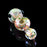 "4.5"" Gold and Silver Fumed Inside-Out Cane and Twist Spoon Pipe with Color Carb"