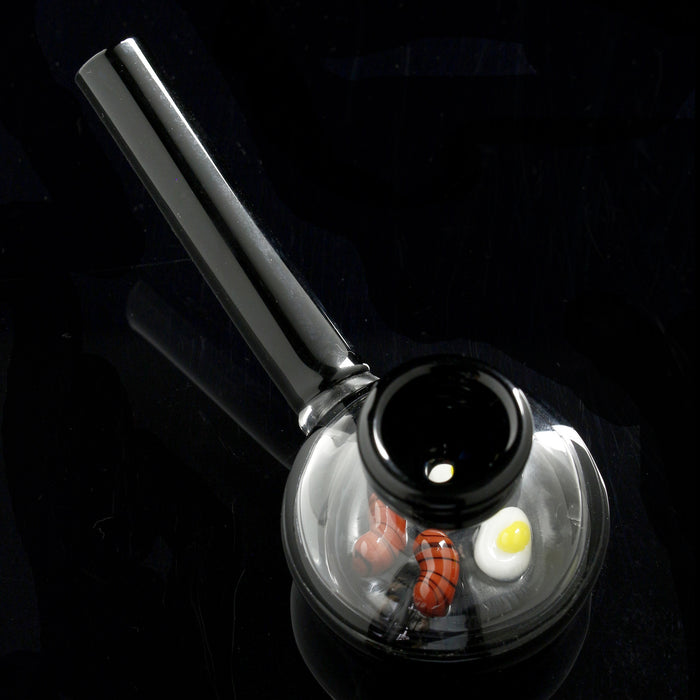 "The 🍳 ""Wake & Bake"" Frying Pan Glass Hand Pipe"