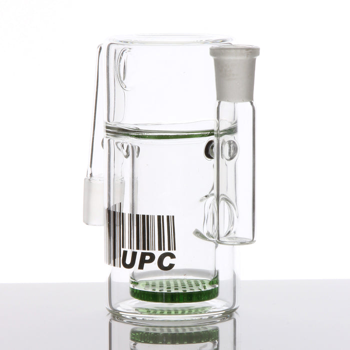 Inset Honeycomb Disc Glass Ashcatcher with 90 Degree Joints