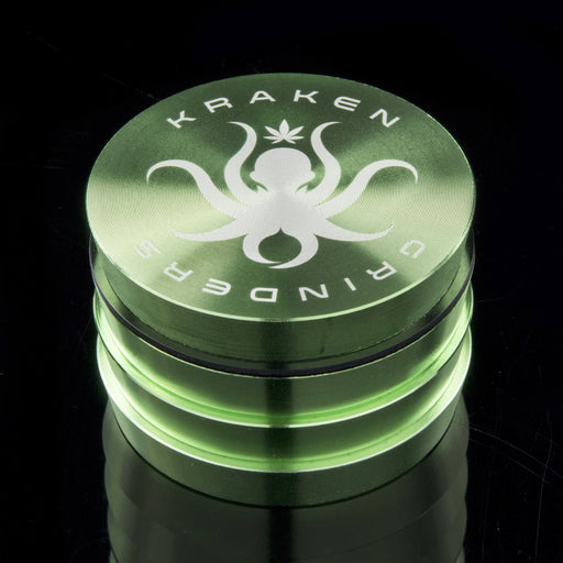 "Kraken 4-part Tiered 2.2"" or 2.5"" Solid Color Grinder"