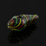 Rasta Jewel Black Frit Pipe