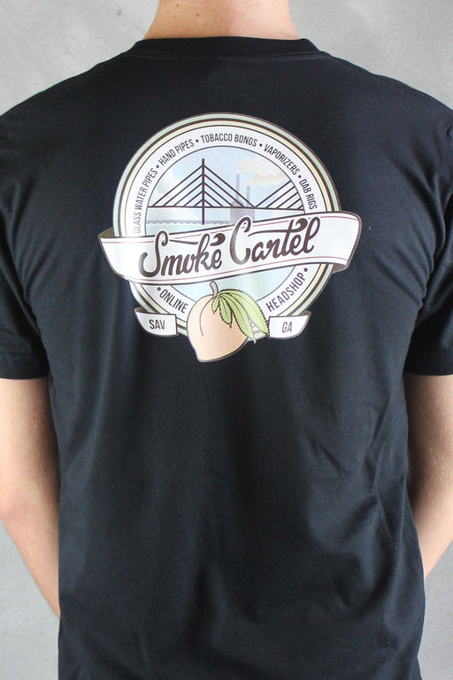 White / Small - Smoke Cartel Badge American Apparel Men's Pocket Tee - Smoke Cartel -
