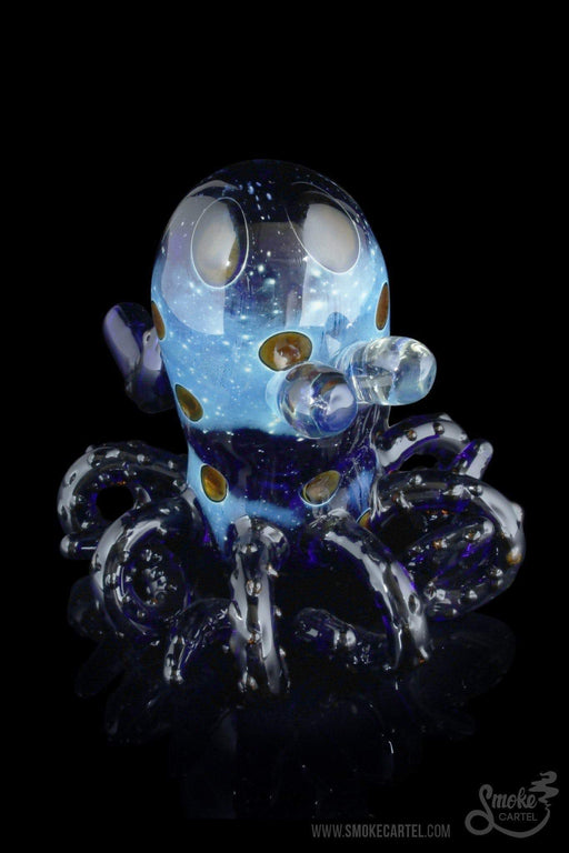 "Blue - ""Tiny Eyes"" Octopus Themed Hand Pipe - Smoke Cartel -"