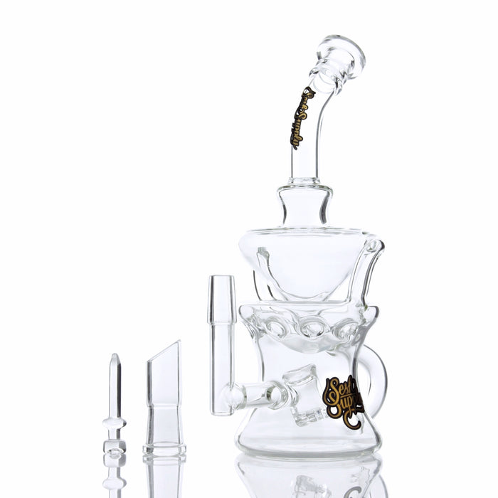 "Sesh Supply ""Orion"" Cube Perc Swiss Recycler Oil Rig"