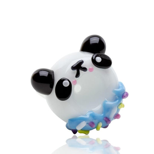 Empire Glassworks Panda Donut Flower Bowl