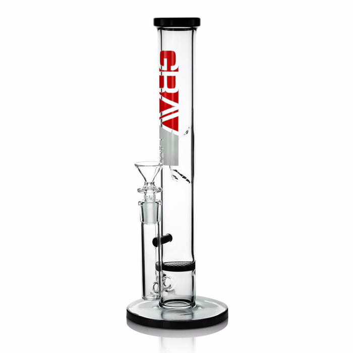 "Grav Labs 12"" Straight Base with Disc Water Pipe"