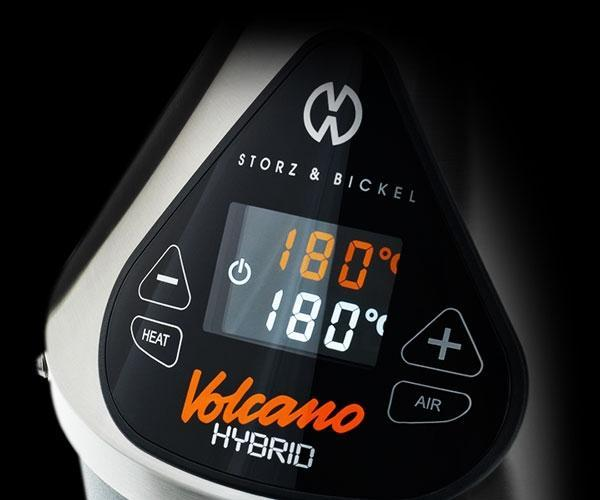 [FEATURE][BLACK] Touch of Class - The VOLCANO HYBRID is equipped with a slick and ingenious display complete with integrated touch buttons: the world of hassle-free vaporizing is at your fingertips.