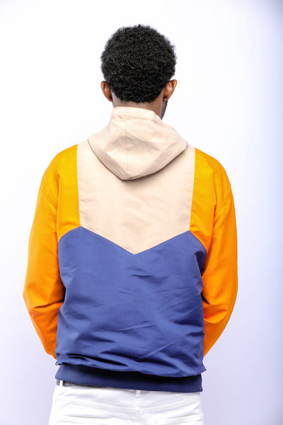 COLOR-BLOCK WINDBREAKER JACKET