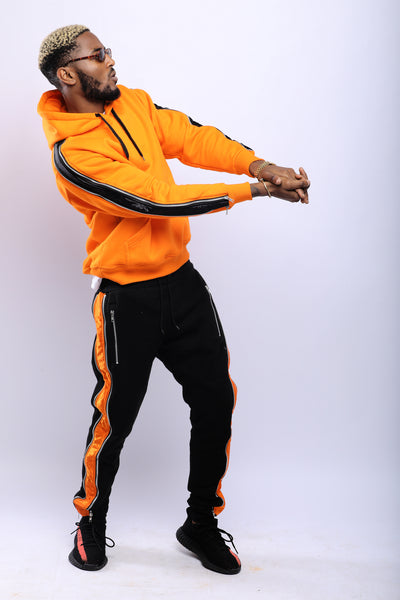 ORANGE SILVERLINE SWEATSUIT