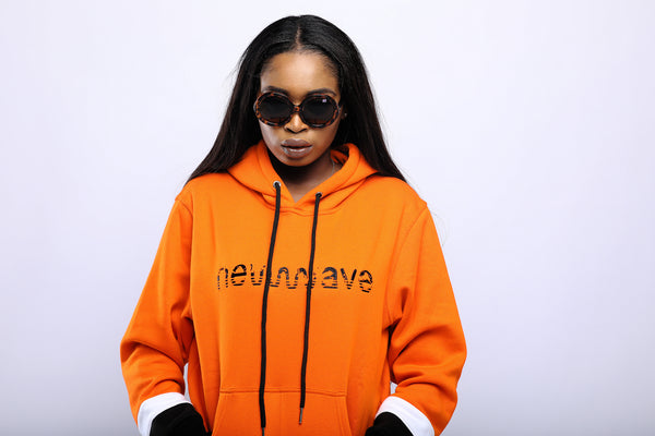 WOMEN'S ORANGE NEWWAVE HOODIE