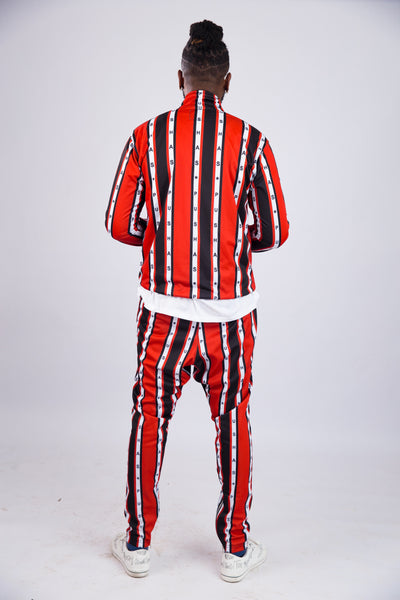 MEN'S PUSHAS STRIPE PRINT TRACKSUIT