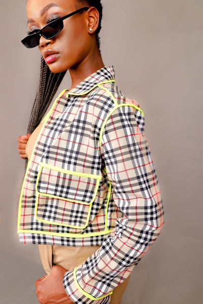 WOMENS LURID CROPPED JACKET (NEON)