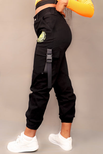PUSHAS CARGO PANTS (BLACK)