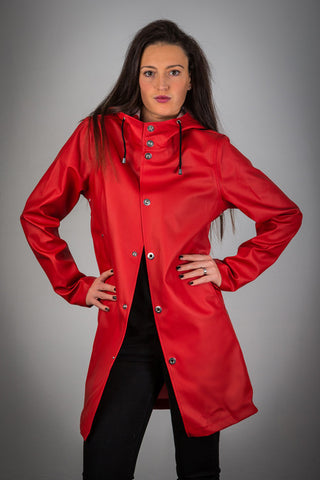 OLD FASHIONED RED RAINCOAT