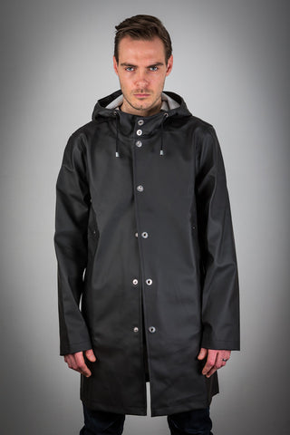 OLD FASHIONED BLACK RAINCOAT - WITH LINING