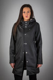 OLD FASHIONED BLACK RAINCOAT