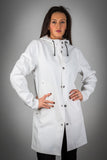 OLD FASHIONED WHITE RAINCOAT- WITH LINING