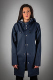 OLD FASHIONED NAVY RAINCOAT- WITH LINING