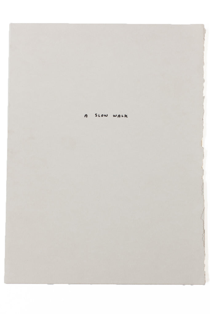 Load image into Gallery viewer, A SLOW WALK | A Letterpress Portfolio by Jason Polon