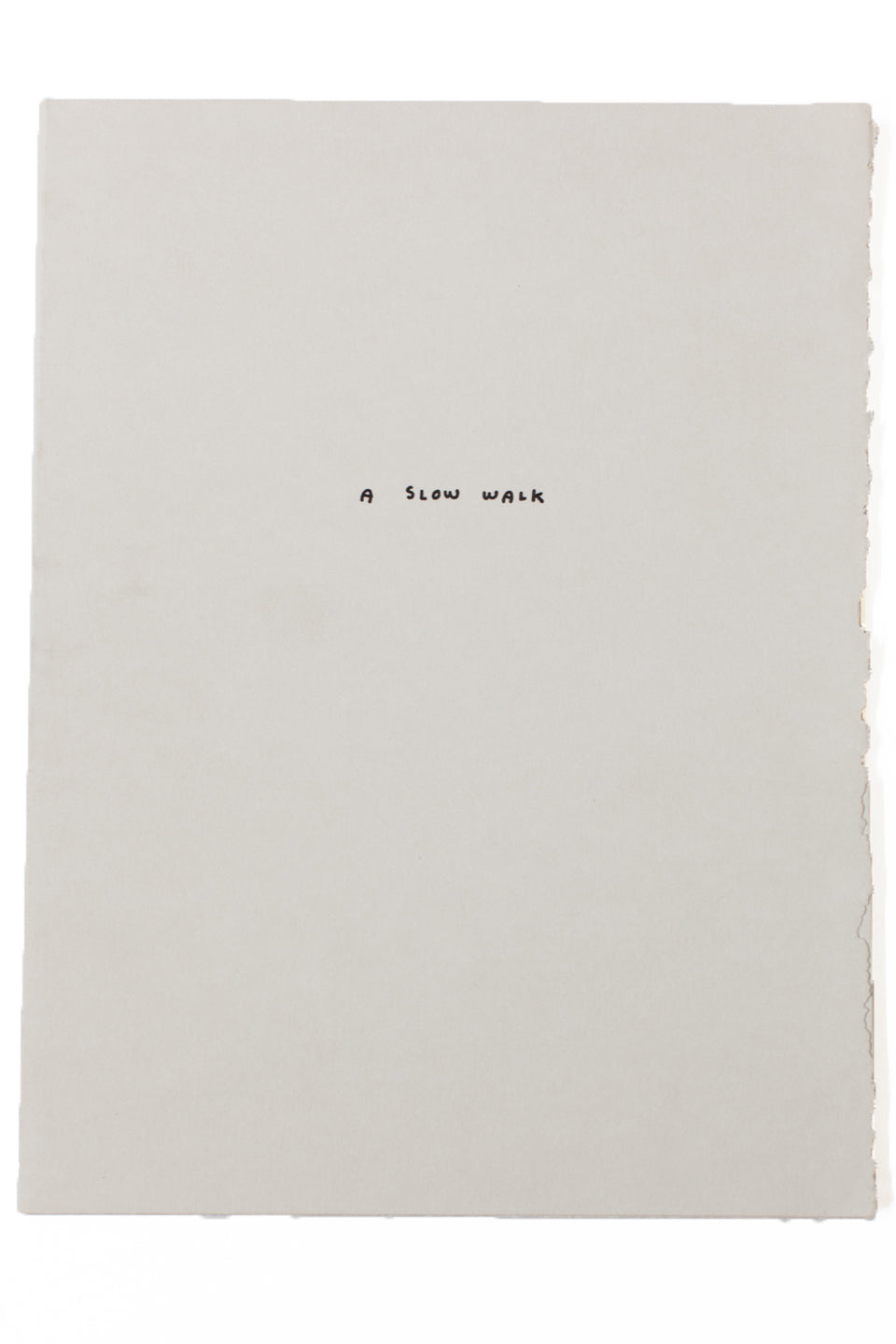 A SLOW WALK | A Letterpress Portfolio by Jason Polon