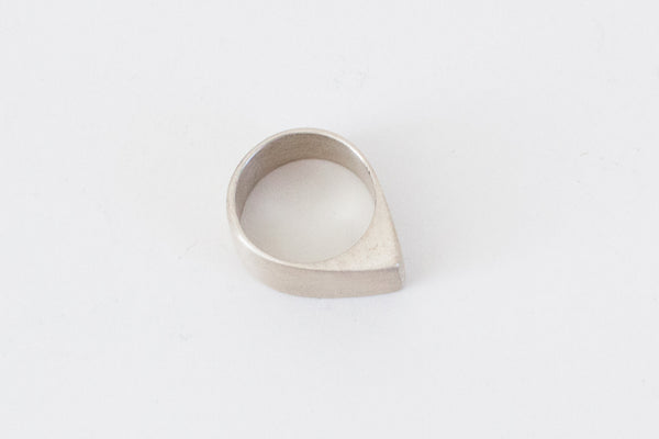 Gloria Ring | Brushed Sterling Silver