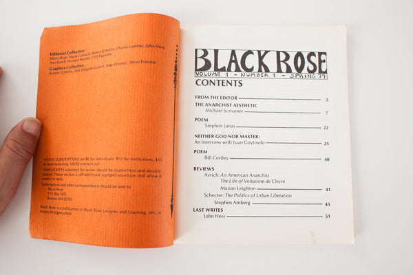 Black Rose | Vol.1 No.1 | Spring 1979