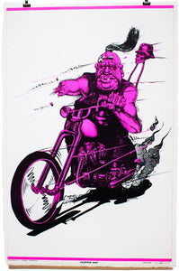 CHOPPED HOG | Vintage Blacklight Poster
