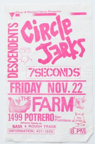 Flyer | Circle Jerks x 7 Seconds x Descendents
