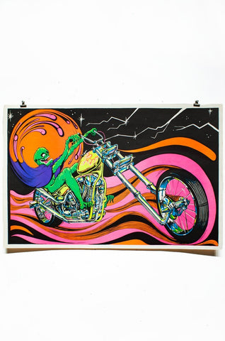 DEMON CHOPPER | Vintage Blacklight Poster
