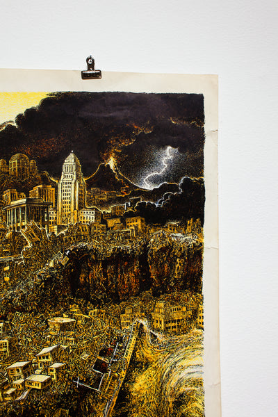 LOS ANGELES | EARTHQUAKE 1968 | Vintage Poster