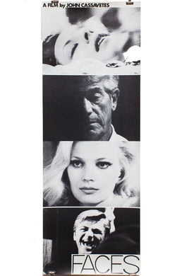 JOHN CASSAVETES | FACES | Vintage Movie Poster
