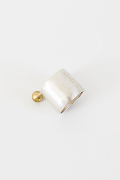 Sterling + Brass Ring