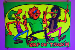 Load image into Gallery viewer, FREAK BROS | Keep On Truckin | Blacklight Poster