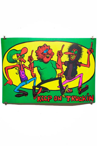 FREAK BROS | Keep On Truckin | Blacklight Poster
