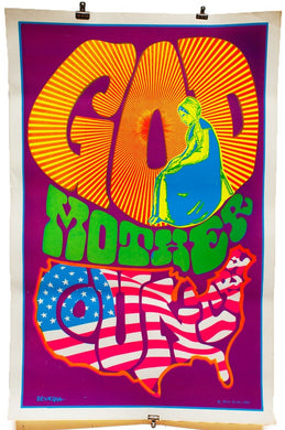 GOD MOTHER COUNTRY | Vintage Blacklight Poster