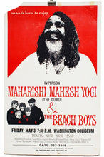 Load image into Gallery viewer, MAHARISHI MAHESH YOGI AND THE BEACH BOYS | Vintage Poster