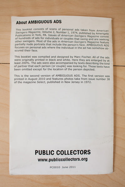 Public Collectors | Ambiguous Ads