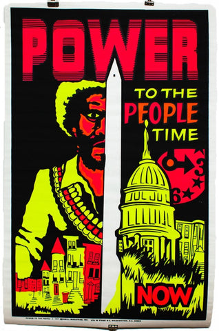 POWER TO THE PEOPLE TIME | Vintage Blacklight Poster