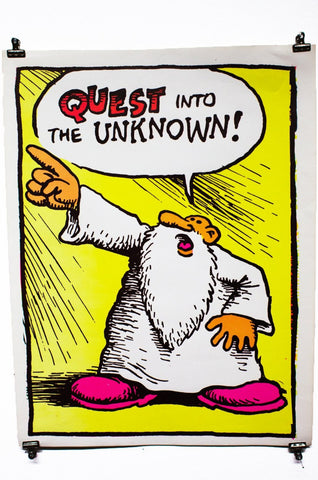 QUEST INTO THE UNKNOWN | Vintage Blacklight Poster
