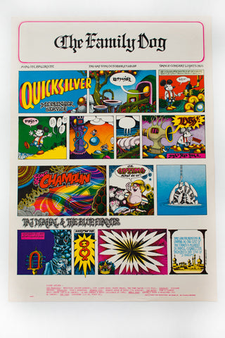RICK GRIFFIN | QUICKSILVER MESSENGER SERVICE with TAJ MAHAL Poster