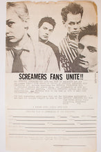 Load image into Gallery viewer, SCREAMERS FAN CLUB | Vintage Flyer
